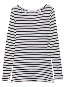 JUVIA Stripes Long Off-White Navy