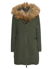 SLY 010 Fur Parka Oliv