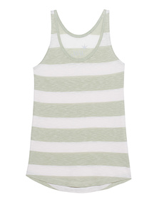 JUVIA Tank Stripes Green