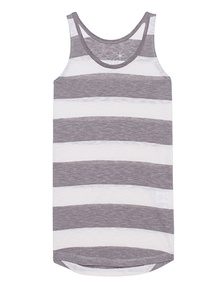 JUVIA Tank Stripes Cream Brown