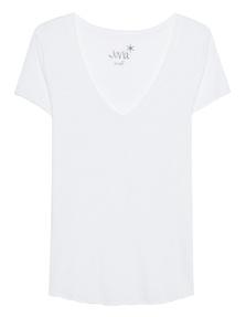 JUVIA Basic V-Neck White