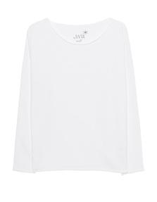 JUVIA Fleece Sweater White