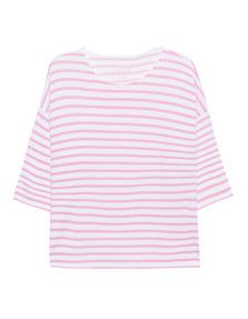 JUVIA Fleece Stripe Sweater Candy