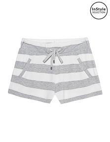 JUVIA Stripe Shorts Grey Melange