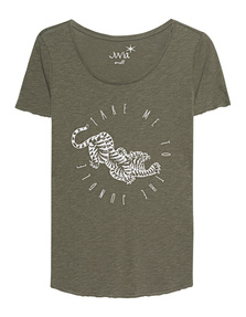 JUVIA Take me to the Jungle Tee Khaki