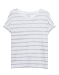 JUVIA Stripes Boxy White Grey