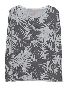 JUVIA Print Palms Sweater Anthra