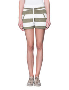 JUVIA Stripe Short White Oliv