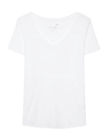 JUVIA V Neck Uni Basic White