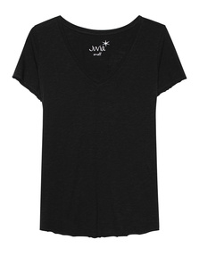 JUVIA V Neck Uni Basic Black