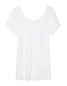 JUVIA Off Shoulder Basic White