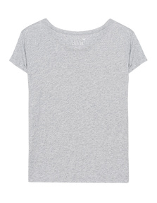 JUVIA Rolled Up Hem Light Grey