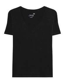 JUVIA Basic V-Neck Shirt Black