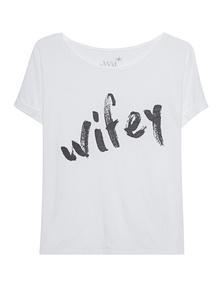 JUVIA Boxy Wifey White