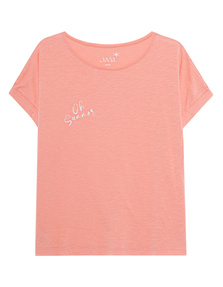 JUVIA Boxy Shirt Oh Summer Mandarine
