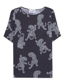 JUVIA Tiger Print Shirt Anthracite