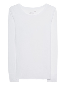 JUVIA Crew Neck Long White