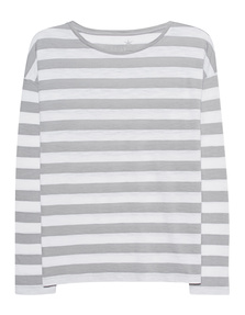 JUVIA Boxy Stripes Light Grey