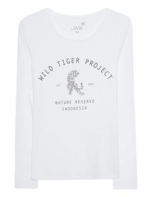 JUVIA Longsleeve Wild Tiger White