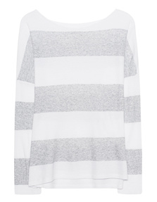 JUVIA Cotton Stripes Light Grey