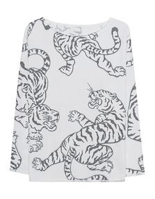 JUVIA Tiger Print White