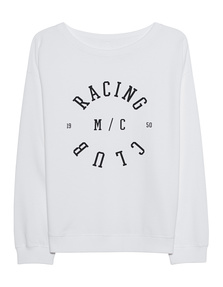 "JUVIA Fleece ""Racing Club"" White"