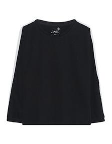 JUVIA -Sweater Shoulder Stripe Black