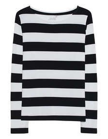 JUVIA Fleece Stripes Black White