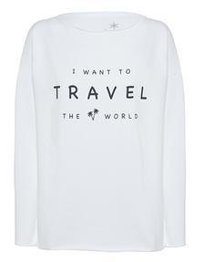 JUVIA Print Travel World White
