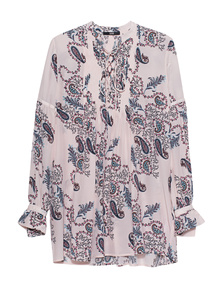 SLY 010 Silk Pleated Paisley Rose