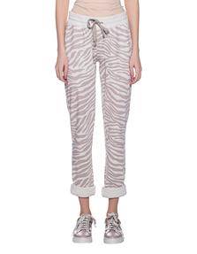 JUVIA Zebra Pattern Sweat Off-White