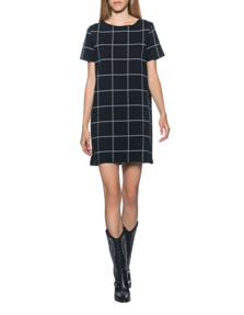 JUVIA Dress Square Chic Black