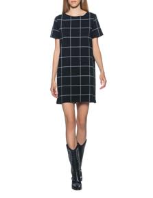 JUVIA Dress Square Chic Black