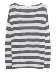 JUVIA Fine Knit Stripe Grey