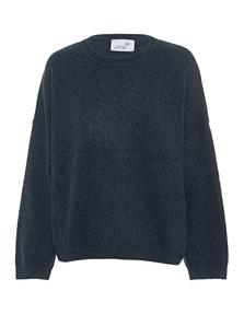 JUVIA Knit Loose Wool Cashmere Deep Ocean