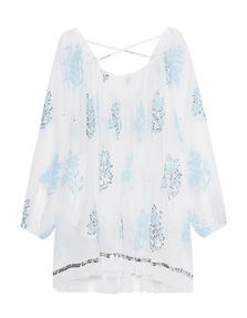 JULIET DUNN Ornate White Blue
