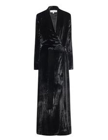 GALVAN LONDON Velvet Belted Black