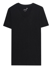 JUVIA Deep V Neck Black