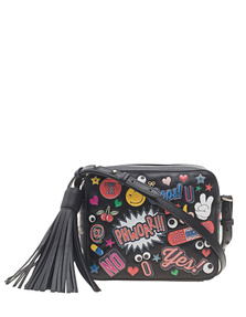 ANYA HINDMARCH Crossbody All Over Wink Stickers Black