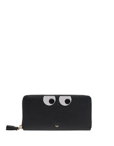 ANYA HINDMARCH Large Zip Round Eyes Black