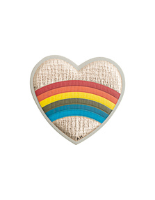 ANYA HINDMARCH Heart Rainbow Pale Gold