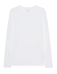 JUVIA Basic Shirt Long White