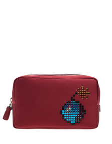ANYA HINDMARCH Bomb Make-Up Pouch Red