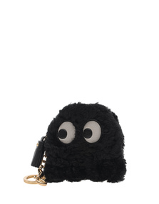ANYA HINDMARCH Ghost Eyes Coin Black