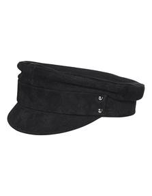 MANOKHI Biker Hat Suede Leather Black