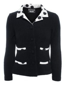 BOUTIQUE MOSCHINO Wool Silk Dots Black