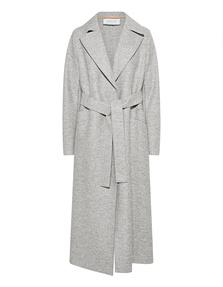 HARRIS WHARF LONDON Long Maxi Coat Pressed Wool Ash Mouline