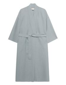 HARRIS WHARF LONDON Kimono Light Pressed Wool Grey Blue