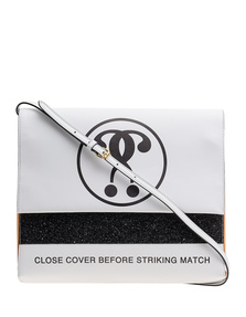 MOSCHINO Match Box Print White