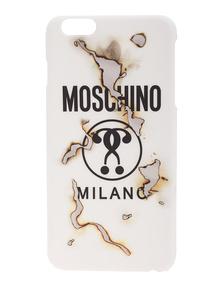 MOSCHINO CAPSULE  Burn Label Hard Stuff White